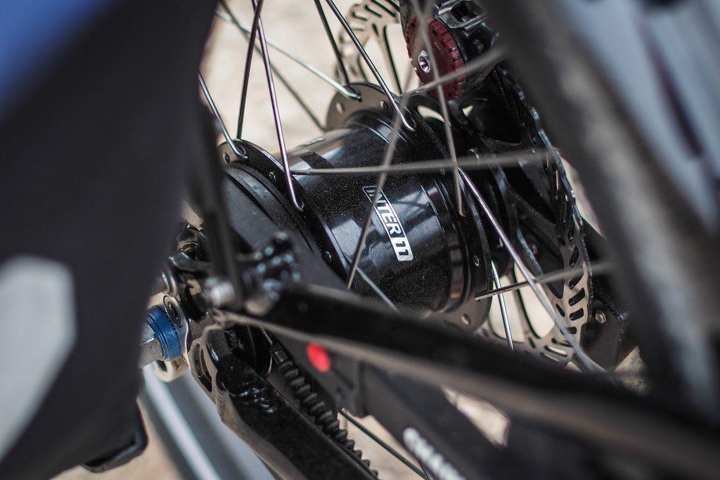 Internal Gear Hub Pada sepeda Lipat Tern Verge S27h