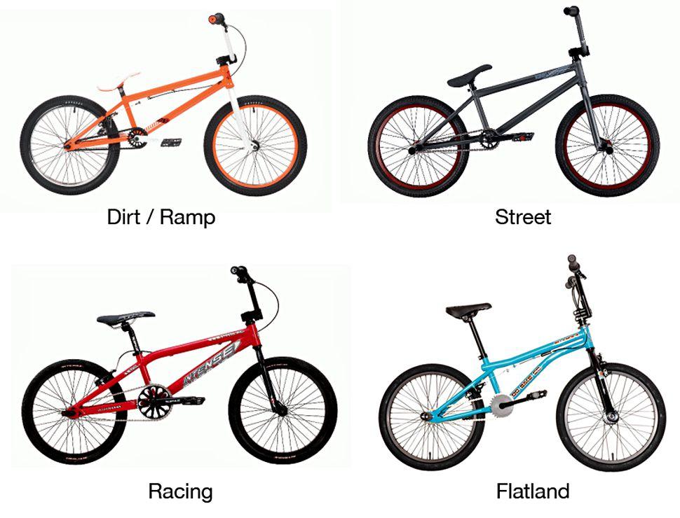 Bentuk frame sepeda BMX berdasarkan style