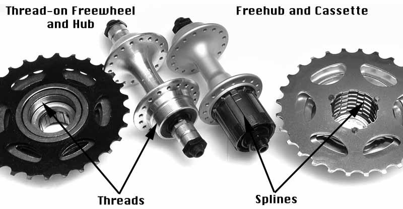 Hub sepeda cassette dan freewheel